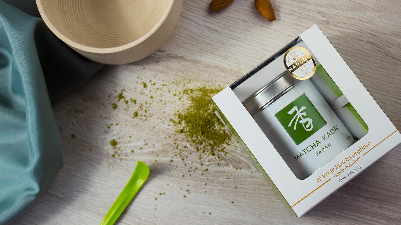 Identidad de marca de té japonés